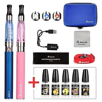Salcar® Cigarrillo electrónico eGo-T CE4 con doble kit de iniciación, batería recargable
