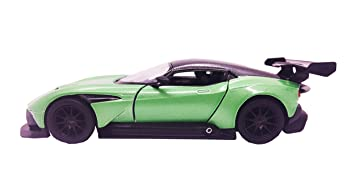 Buy E Chariot 1 38 Scale Model Official Licensed Aston Martin Vulcan Metal Pull Back Car Green Online At Low Prices In India Amazon In