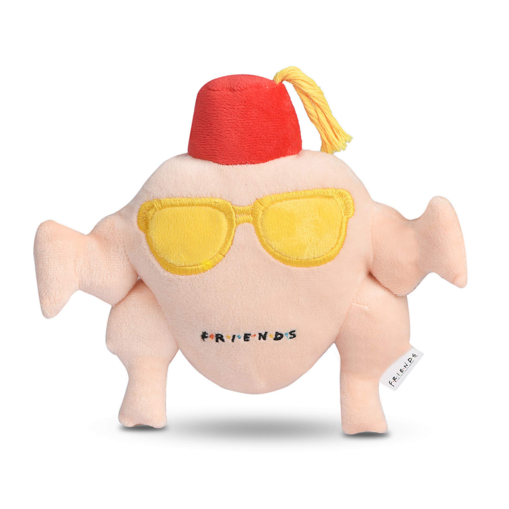 Warner Brothers for Pets Friends TV Show Dog Toy | Cute Squeaky Toy for All Dogs | Stuffed Dog Toys With Squeaker, Friends Memorabilia | Friends TV Show Merchandise Plush Dog Toy