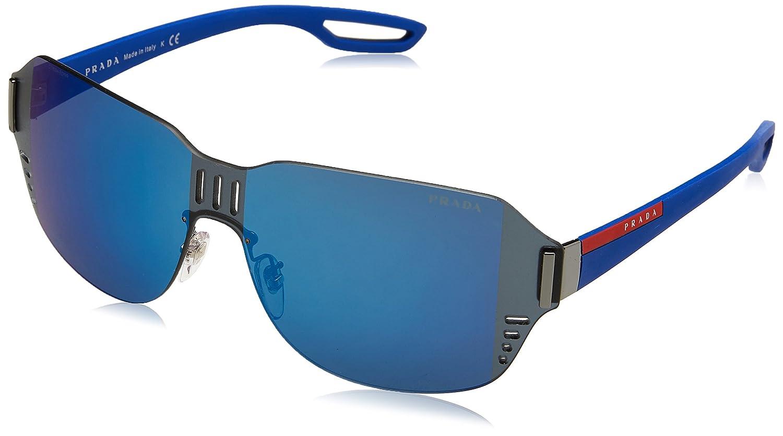 Prada Linea Rossa 0PS 05SS Gafas de sol, Gunmetal, 55 para Hombre