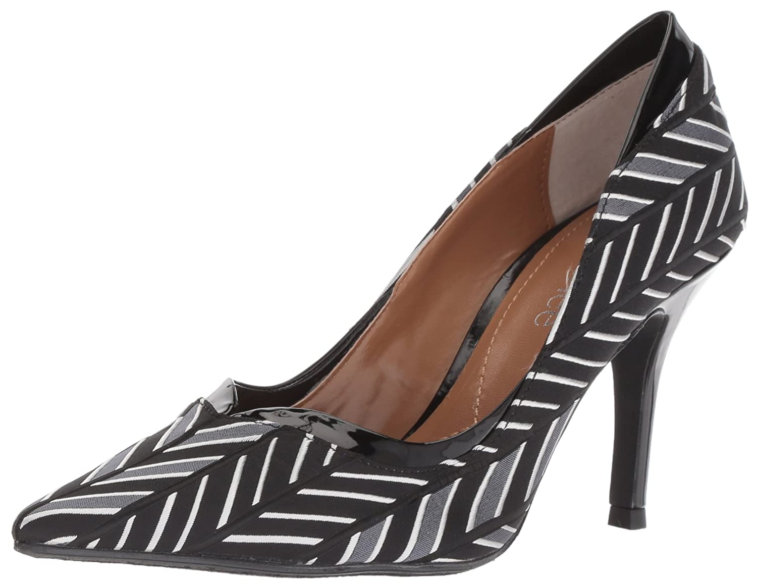 J.Renee Women's Alainn Pump B0741SBB2M 7.5 W US|Black/Gray/White