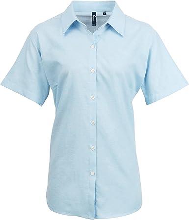 Premier- Camisa de Trabajo Oxford de Manga Corta para Mujer: Amazon.es: Ropa y accesorios