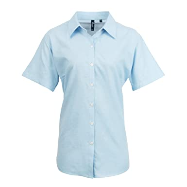 fc0cd512ad Premier- Camisa de Trabajo Oxford de Manga Corta para Mujer  Amazon.es   Ropa y accesorios