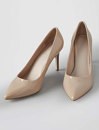 Marca Amazon - find. Wide Fit Point Court Shoe - Zapatos de tacón con punta cerrada Mujer