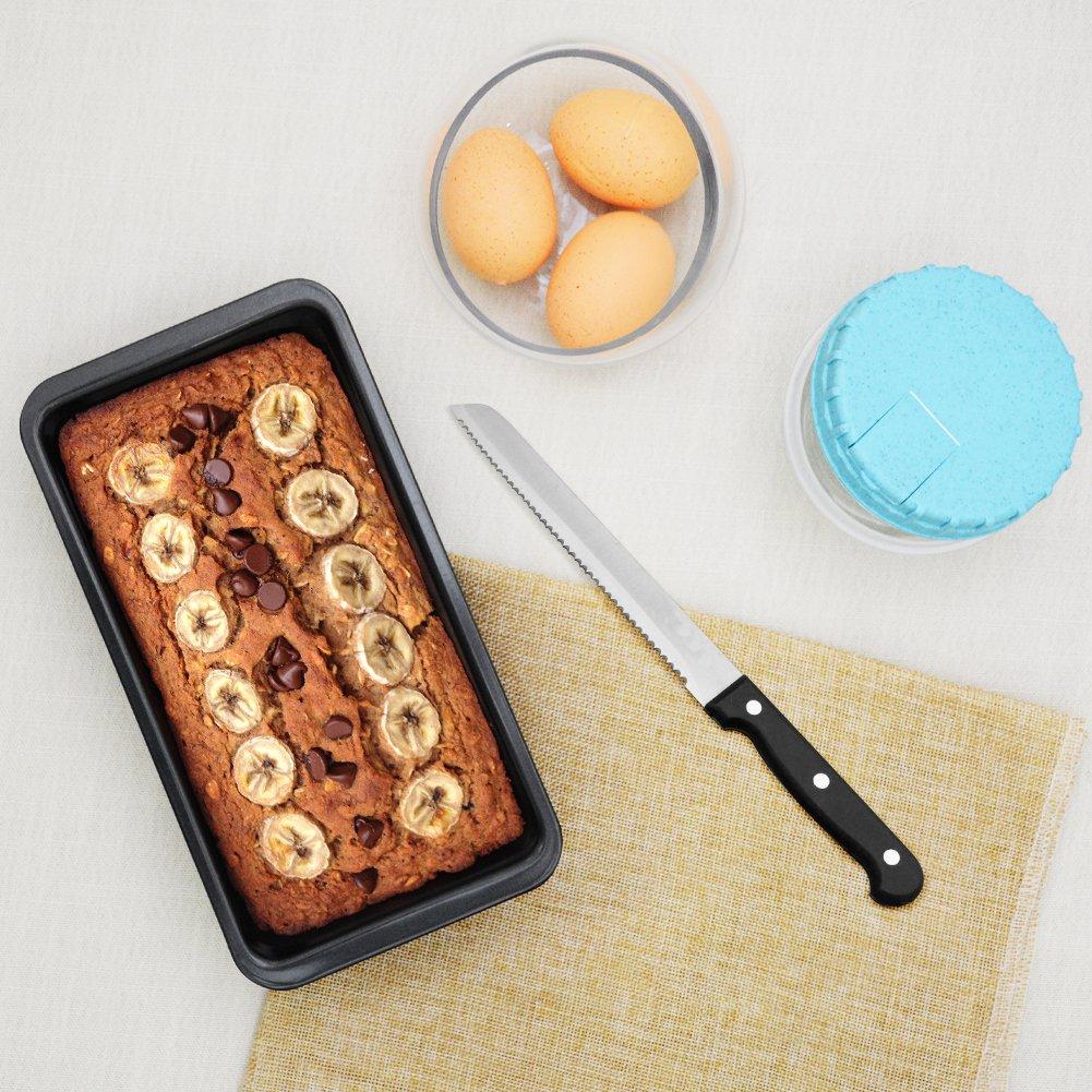 Kootek 7-Piece NonStick Bakeware Set, Muffin Pan, Loaf Pan, Cake Pan, Round Pan, Baking Sheet Pan, Cooling Racks Professional Baking Supplies Rectangle Cookie Pans by Kootek (Image #7)
