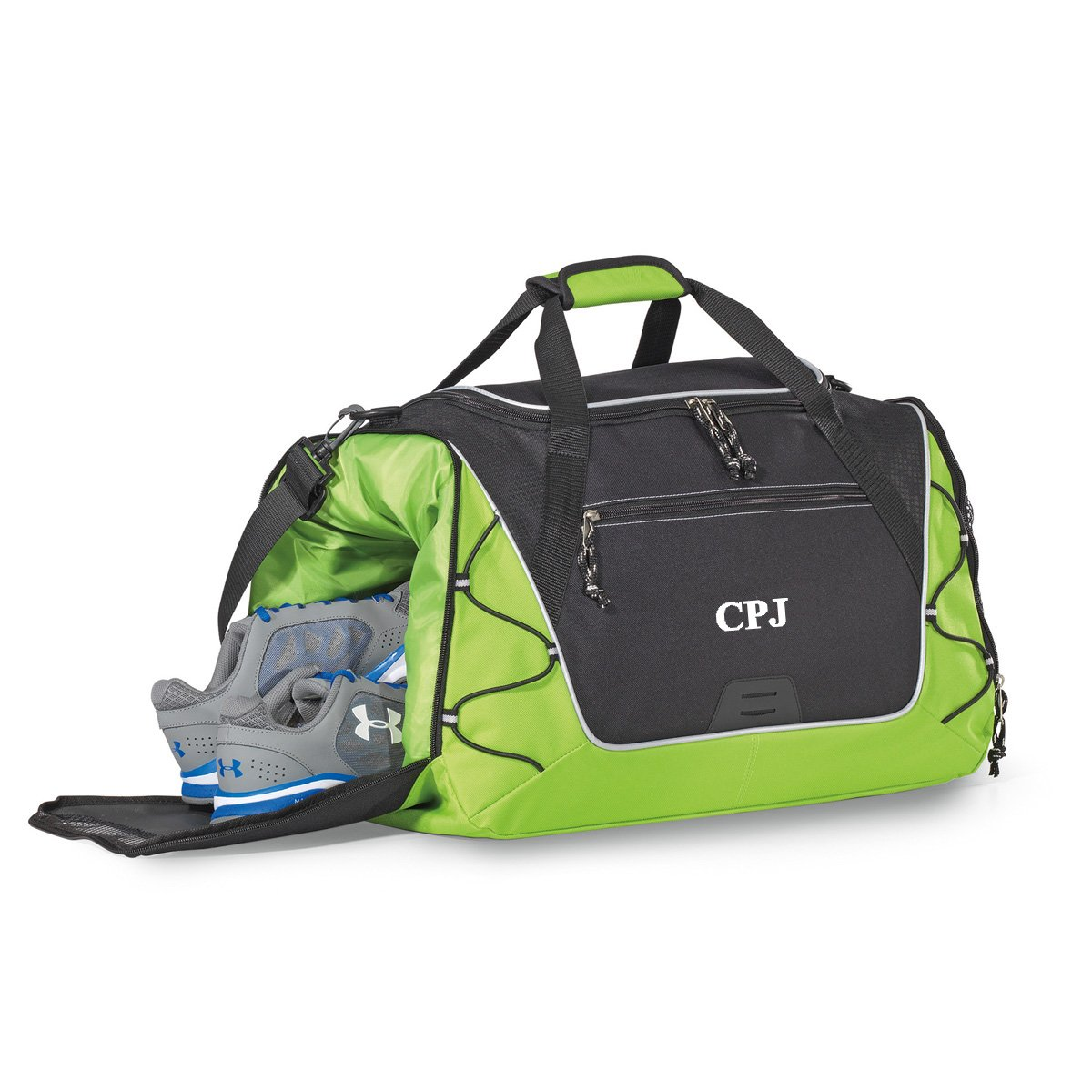 36c7b0d09d Amazon.com  Personalized Green Sports Duffel Bag – Gym Bag