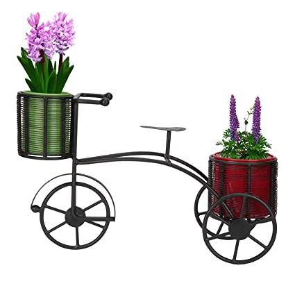 82337f74067a Nutech Impex Cycle Style Stand with 2 Metal Pot: Planter Stand, Stand for  Plants
