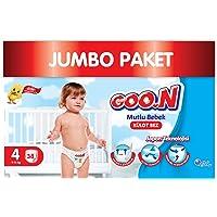 Goon Mutlu Bebek Külot Bez, 4 Beden, Jumbo Paket, 38 Adet, Beyaz