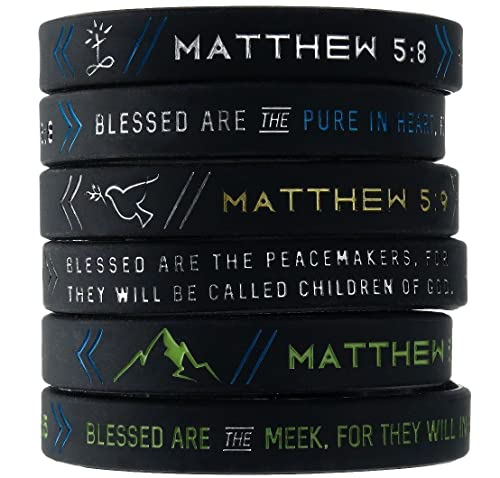 Amazon Inkstone 6 Pack The Beatitudes Bible Wristbands W