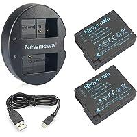 DMW-BLC12 Newmowa Battery (2 Pack) and Dual USB Charger for Panasonic DMW-BLC12, DMW-BLC12E, DMW-BLC12PP and Panasonic Lumix DMC-FZ200, DMC-FZ1000, DMC-G5, DMC-G6, DMC-G7, DMC-G85, DMC-GH2, DMC-GX8