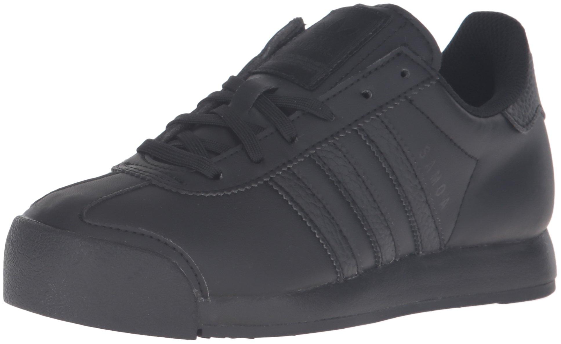 adidas Originals Boys' Samoa J Running Shoe, Black, 5 M US Big Kid