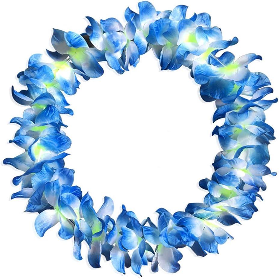 Demarkt 12x Hawaiiketten Hawaii Blumenketten Halskette Blau