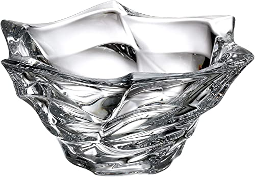 Czech Bohemian Crystal Glass Bowl-Vase 11.5