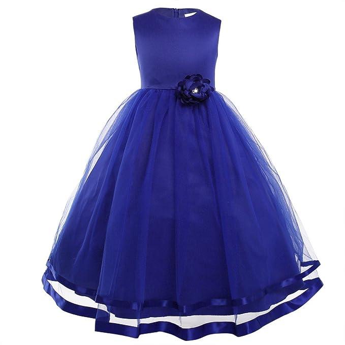 Freebily Vestido Largo de Princesa para Niña (2-14 años) sin Manga Vestido