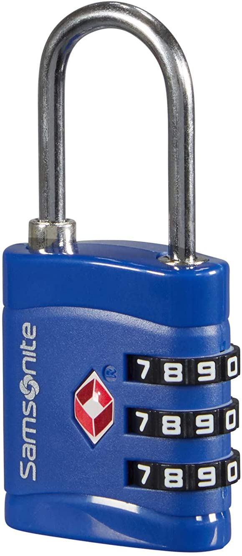 SAMSONITE Global Travel Accessories - TSA Three Dial Light Combi Candado para Equipaje 7 Centimeters 1 Azul (Midnight Blue)
