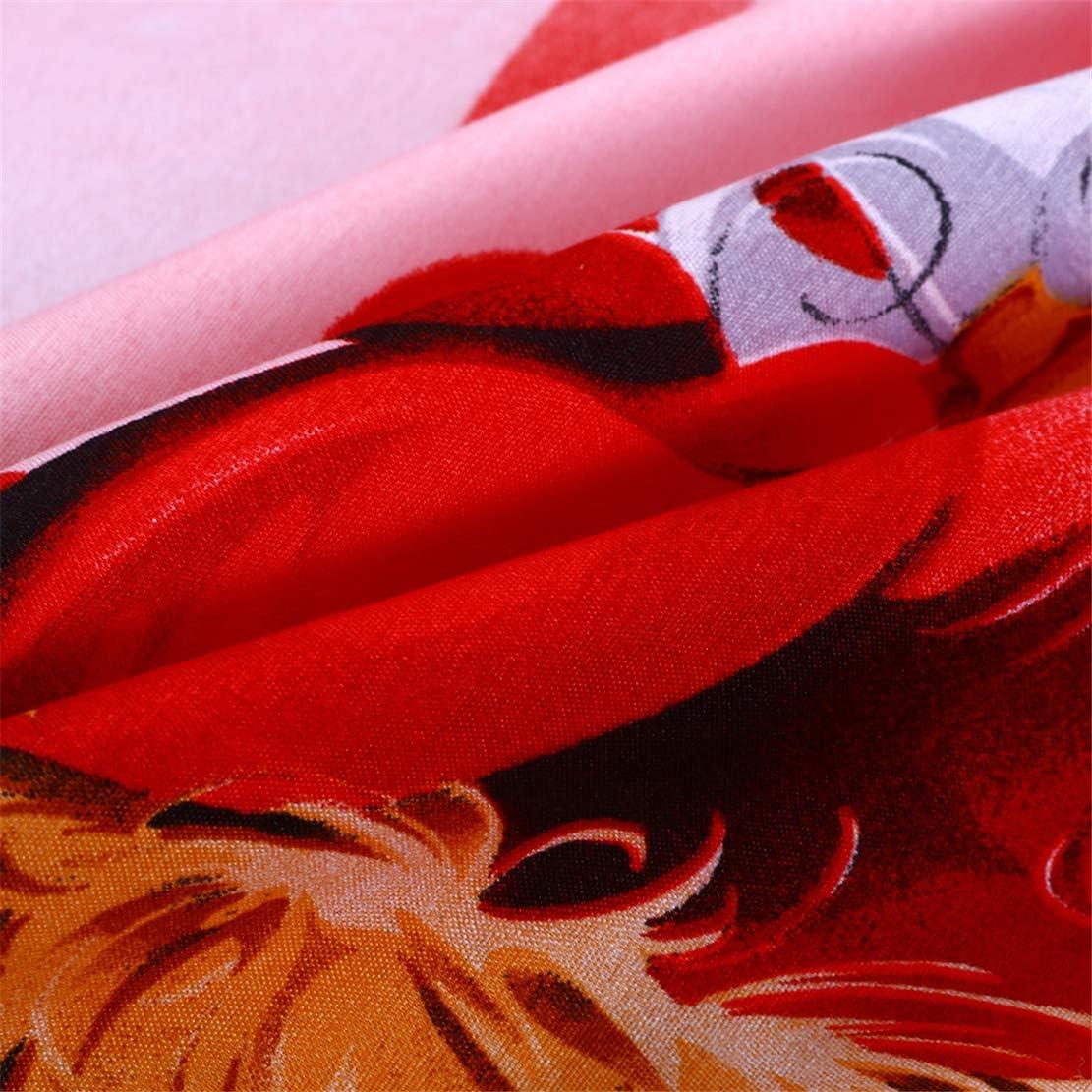 JARSON 2Pcs Green Christmas Pillowcase King Size 3D Cartoon Santa Claus Printed Pillow Cover Kids Christmas Decoration