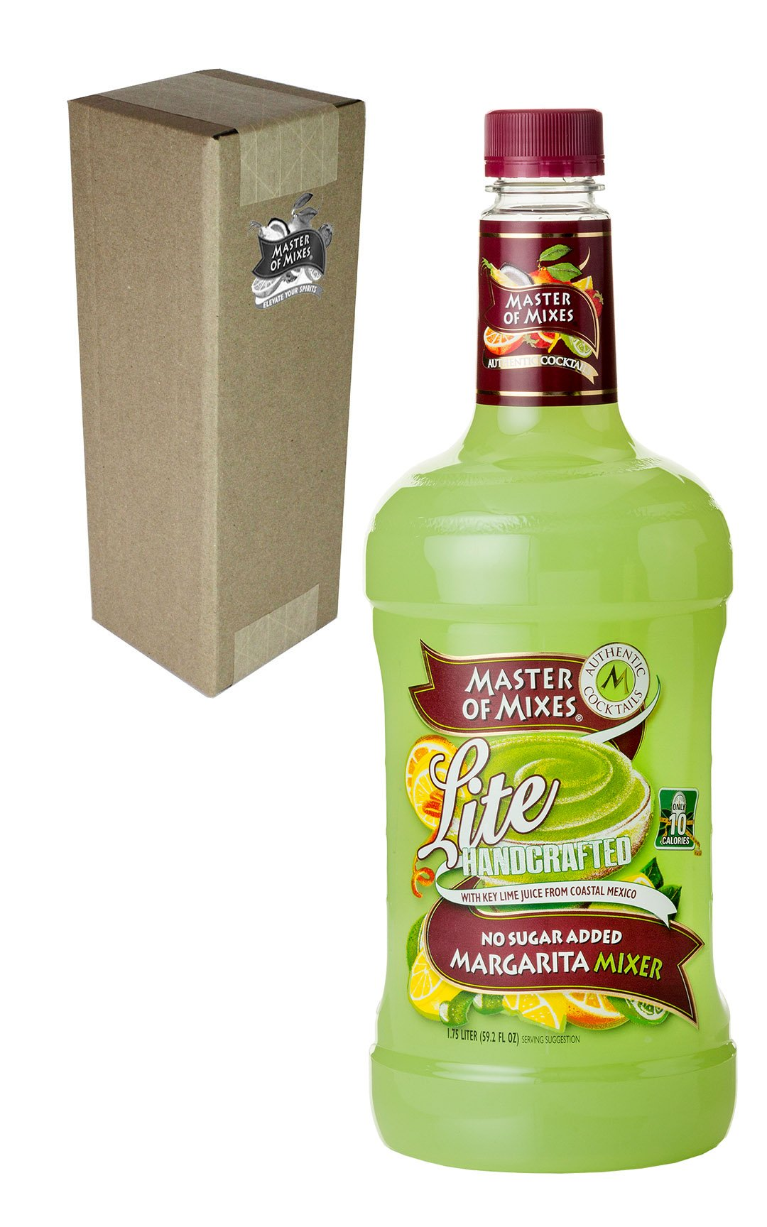 Master of Mixes Margarita Lite Drink Mix, Ready To Use, 1.75 Liter Bottle (59.2 Fl Oz), Individually Boxed