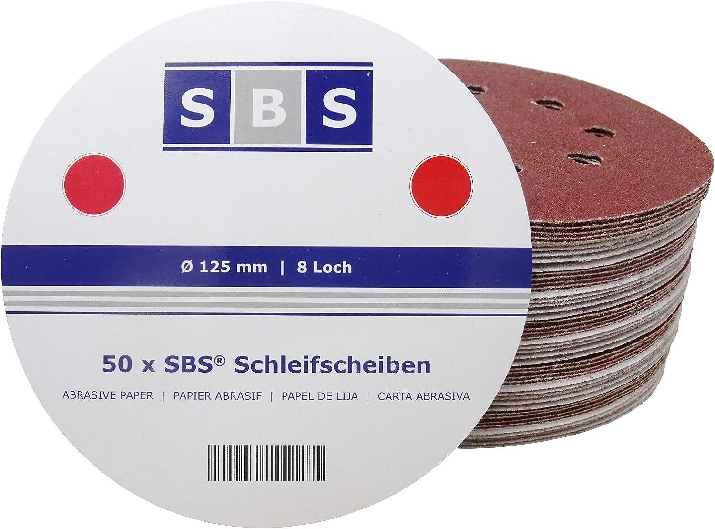 50 disques velcros 125mm 8 trous  grain 60  BOSCH  CE