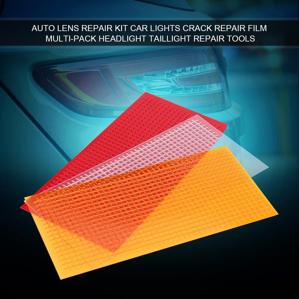 Qiilu Auto Lens Repair Kit Car Lights Crack Repair Film Multi-Pack Headlight Taillight Repair Tools