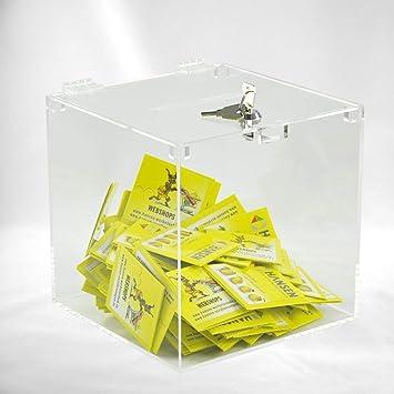 Hansen Losbox Abschließbar Einwurfbox Spendenbox Sammelbox