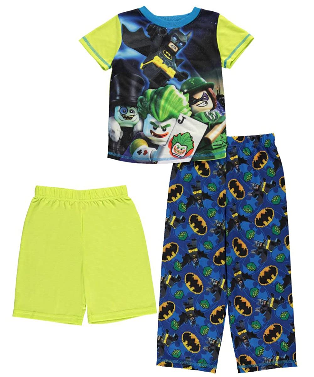 Batman Lego Little Boys'Joker & Friends 3-Piece Pajamas 6 - 7