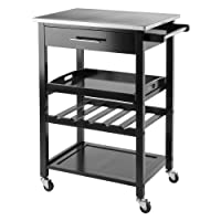Winsome Wood 20326 Anthony Kitchen Cart Stainless Steel