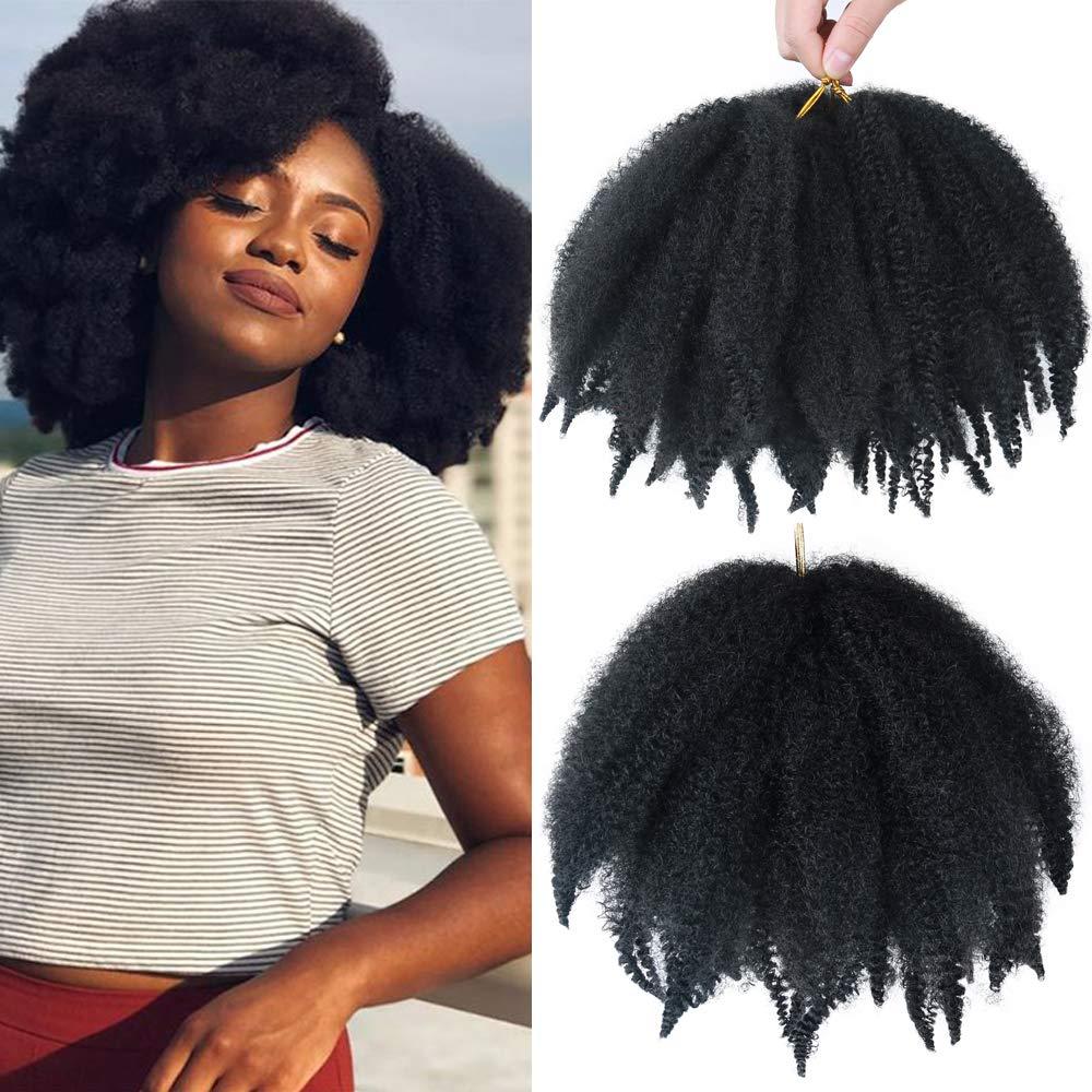 Amazon Com Alentoo 3 Packs Marley Hair Short Afro Kinky Twist Crochet Hair Marley Hair For Twists 8 Inches Marley Twist Crochet Braids Synthetic Kinky Hair Extension 1b Beauty