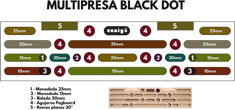 Canigó Multipresa de Escalada Black Dot, Tabla Entrenamiento Interior para Todos los Niveles