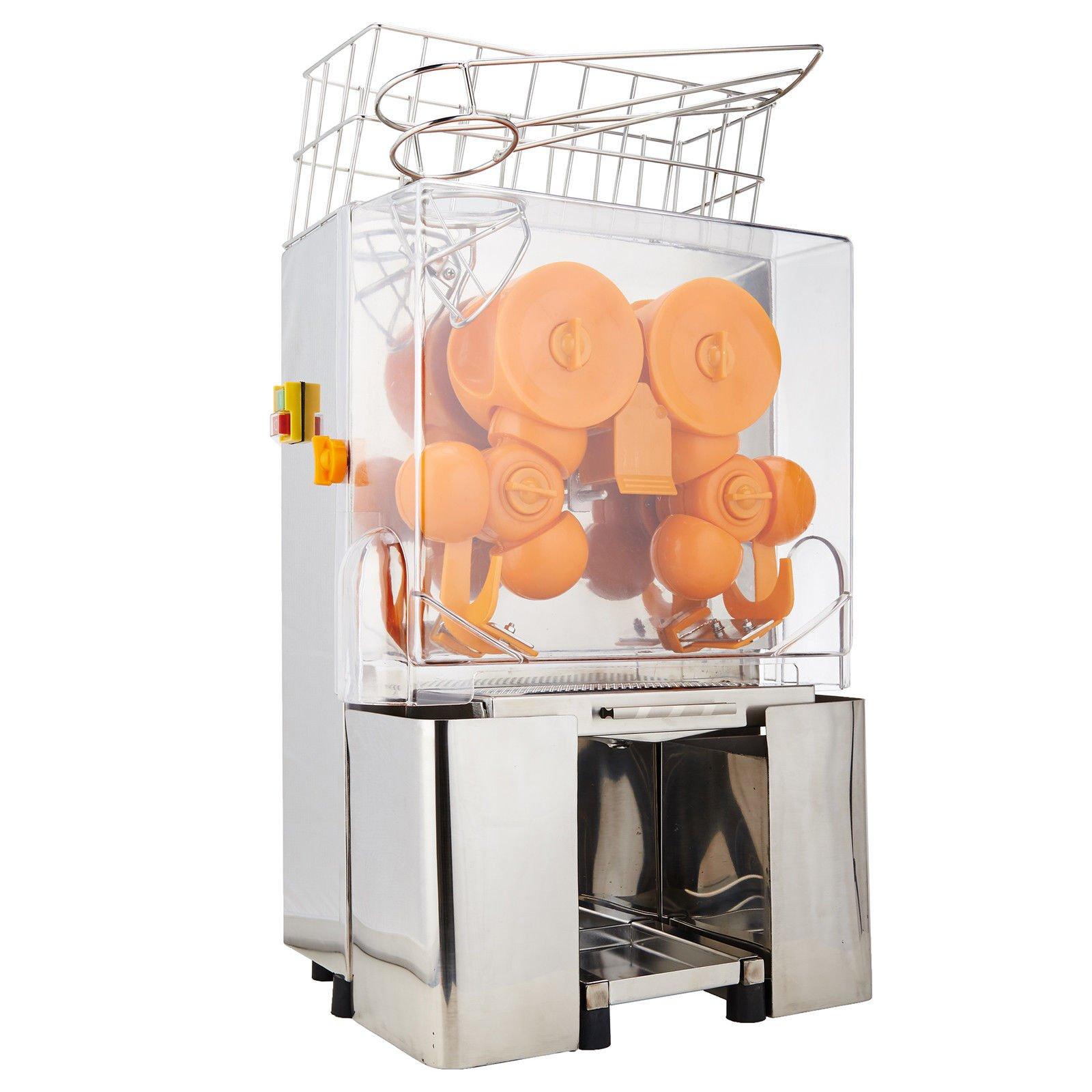 Happybuy Orange Juicer Orange Squeezer Machine Citrus Juicer Electric Fruit Juicer Machine Citrus Lemon Lime Automatic Auto Feed Commercial (Stainless Steel tank) by Happybuy (Image #2)