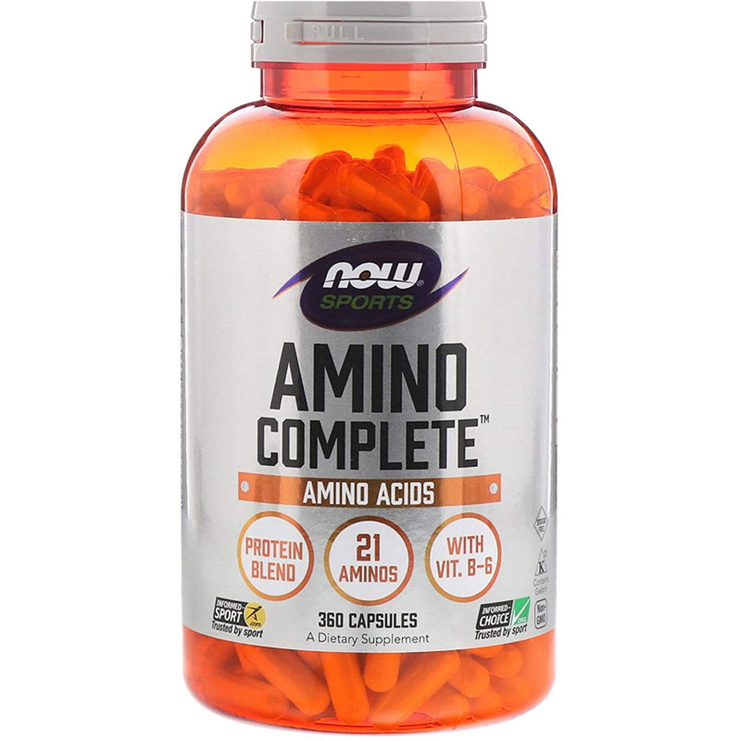 Amino Complete Protein Blend 21 Aminos with Vitamin B-6 Free-Form Amino Acids 360 Capsules