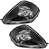 Driver and Passenger Headlights Headlamps Replacement for Mitsubishi MR496321 MR496322