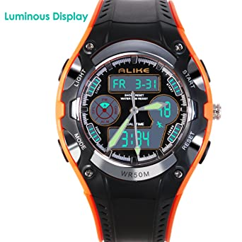 NICERIO Reloj de pulsera para niños estudiantes igualmente impermeable niños niñas deporte reloj Digital con alarma cronómetro: Amazon.es: Relojes
