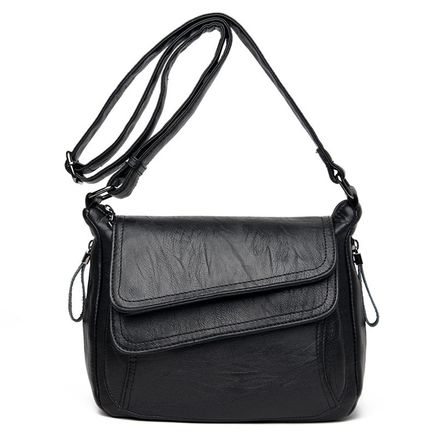 Amazon.com  Fashion Solid Genuine Leather Women Messenger Bag Small  Shoulder Bags For Women Ladies Handbags Cross Body Bags  Shoes 3a61be3533274
