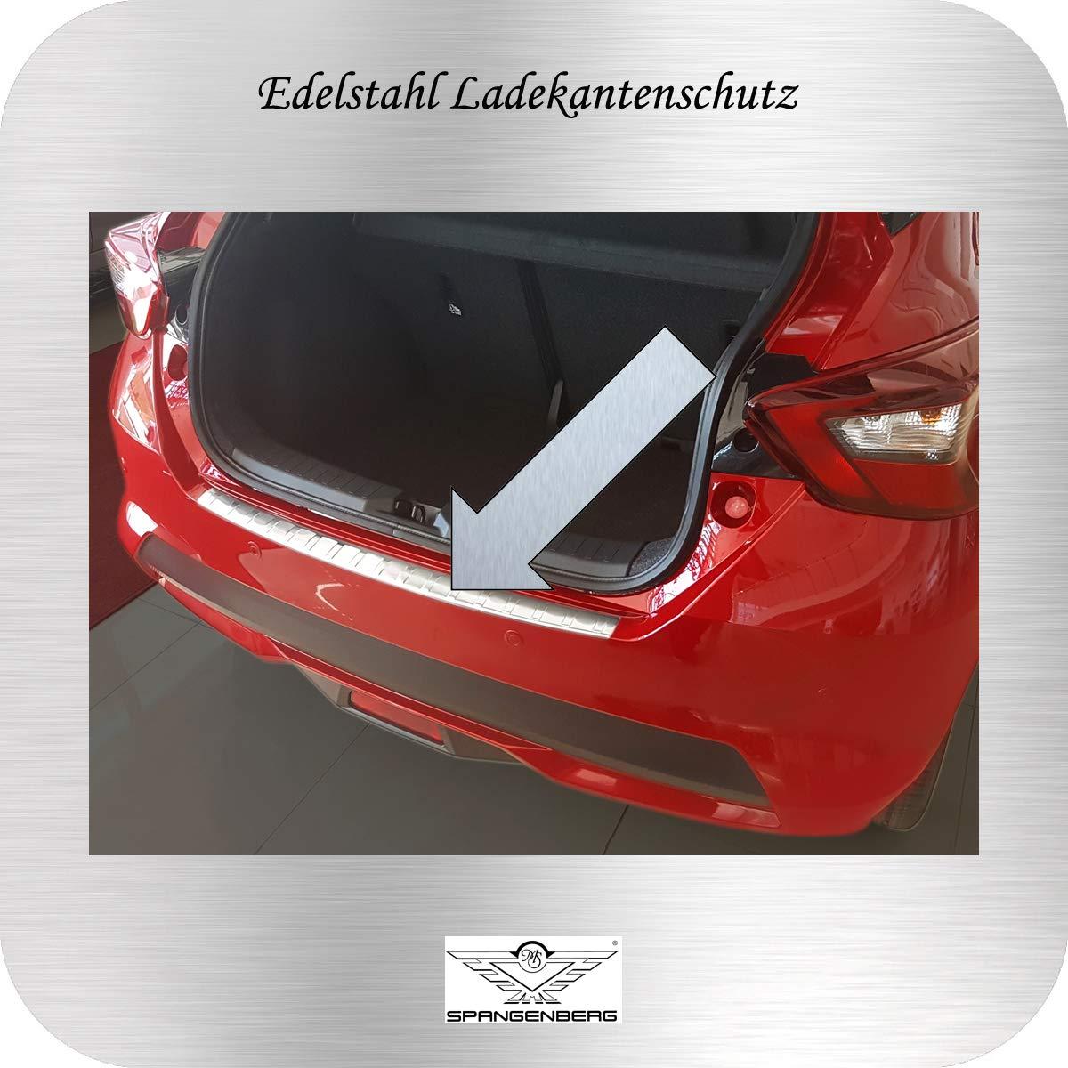 Art Spangenberg Edelstahl Ladekantenschutz f/ür Nissan Micra Schr/ägheck Typ K14 ab Baujahr 12.2016 3235149