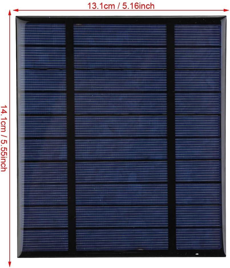 Alomejor Chargeur de Panneau Solaire 2.5Watt Portable Banque d/énergie Solaire Pliable imperm/éable avec Ports USB pour tablettes Smartphones et Camping Voyage