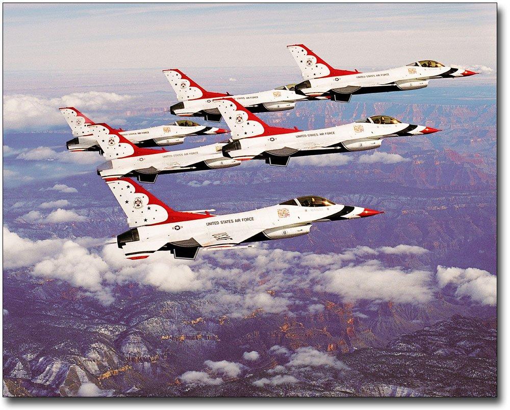 U.S. Air Force Thunderbirds Grand Canyon 8x10 Silver Halide Photo Print