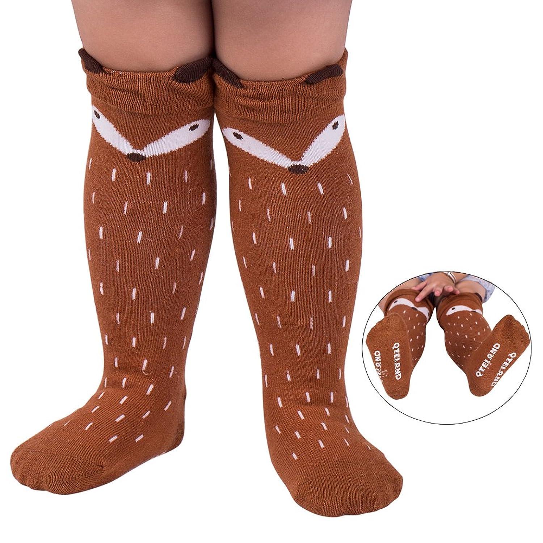 Amazon Qteland Little Fox Pattern Uni baby Knee High Socks