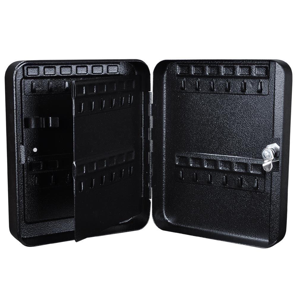 48 Keys Solid Steel Safe w/Tags Storage Cabinet Box Case Home Dorm Office Shop New Black