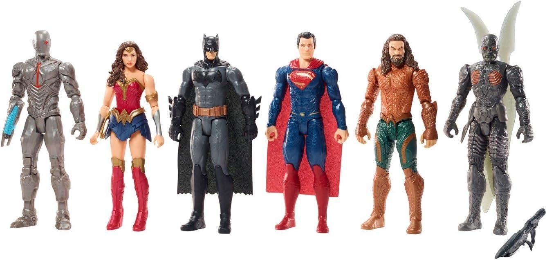7 DC Universe Justice League Actionfiguren Superman Batman Wonder Woman Aquaman