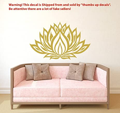 Lotus Flower Wall Decal Yoga Studio Vinyl Sticker Mandala Decals Bedroom  Indian Ornament Namaste Home Decor