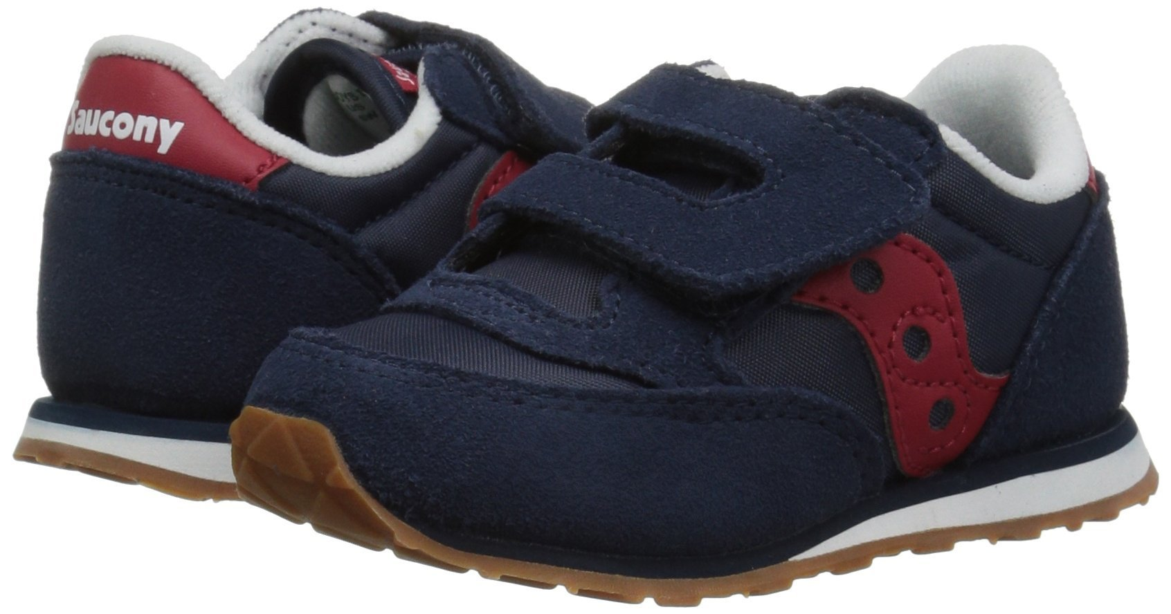 Saucony Jazz Hook & Loop Sneaker (Toddler/Little Kid), Navy/Red, 12 M US Little Kid by Saucony (Image #6)