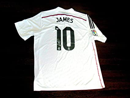 detailed look c8e28 52ad2 James Rodriguez Autographed Jersey - Adidas Gem - PSA/DNA ...