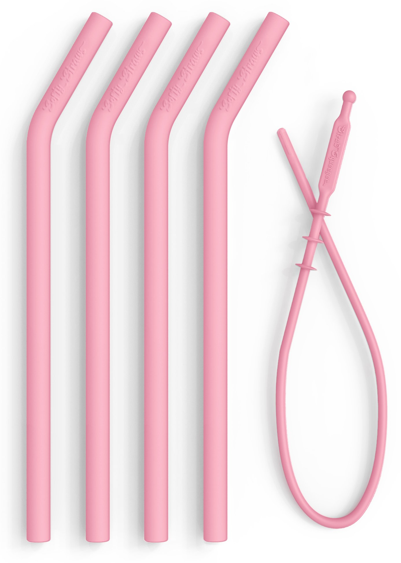 Reusable Silicone Straws for Smoothies - Collapsible FDA Pinch Tested BPA Free Dishwasher Safe - Long, Wide Smoothie Straw for 20 or 30 oz Tumblers - Chewy, Bendy, Flexible for Kids/Toddlers