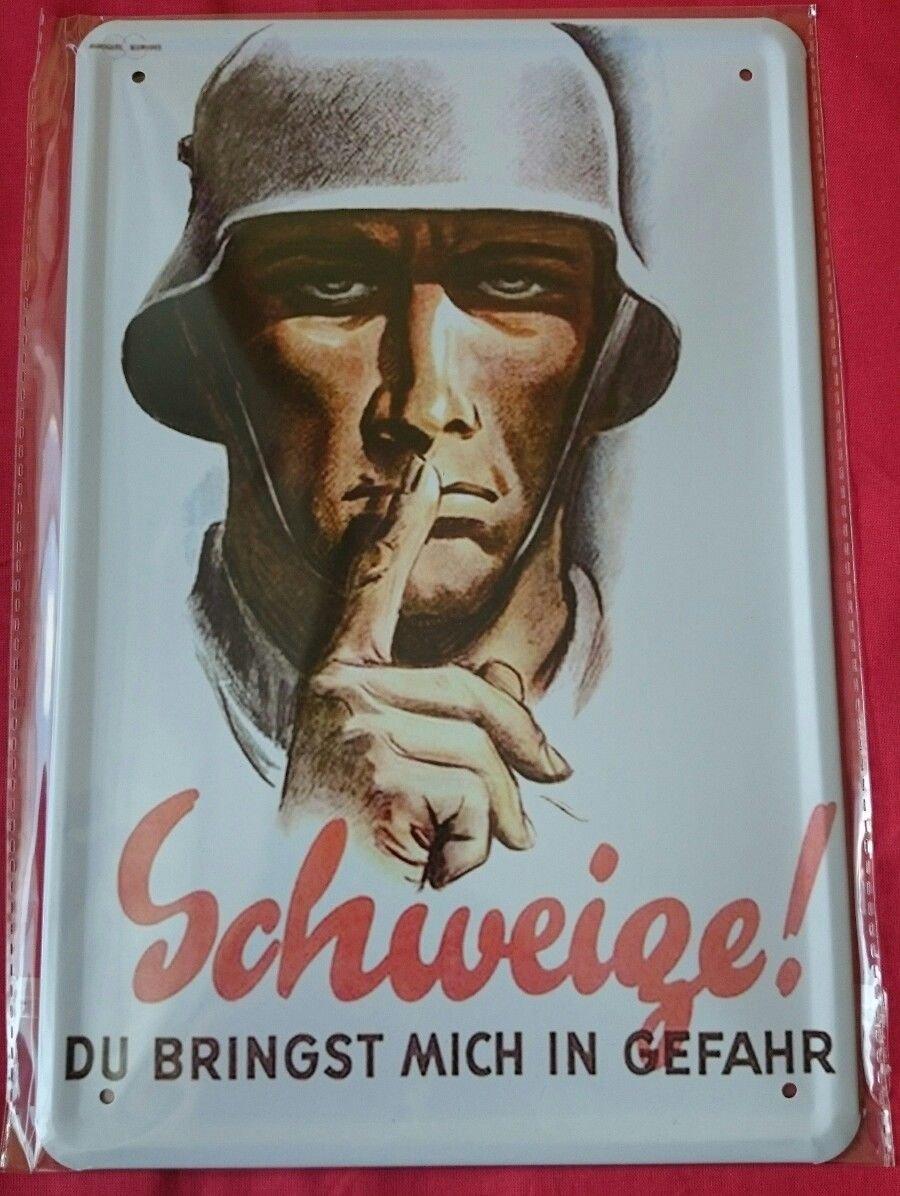 Unbekannt Cartel de Chapa 20 x 30 cm schweige Du bringst ...
