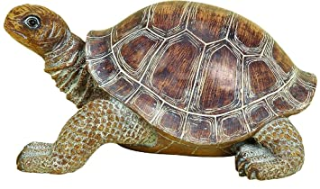 High Quality Deco 79 98281 Polystone Decorative Turtle Statue, 15 By 6 Inch