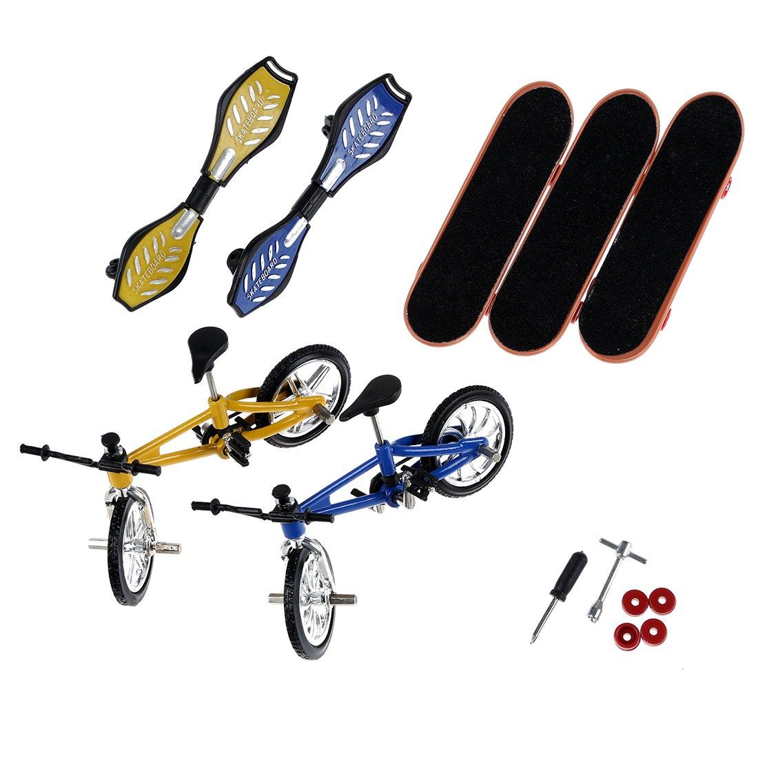 Cikuso Mini Finger Sport Skateboards mit endoluminalen Metallisch Stuetze / paedagogischen Finger Spielzeug
