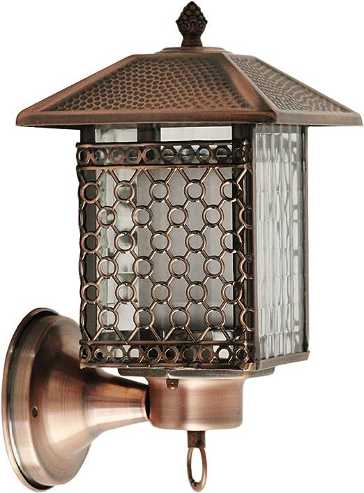 Lámpara de Pared del Jardín,Farol Jardin Exterior,Aplique de Pared Exterior,Aplique Descendente Para Exterior Faroles Jardin Exteriores Iluminación Exterior IP44 Farol de Pared Exterior E27: Amazon.es: Iluminación
