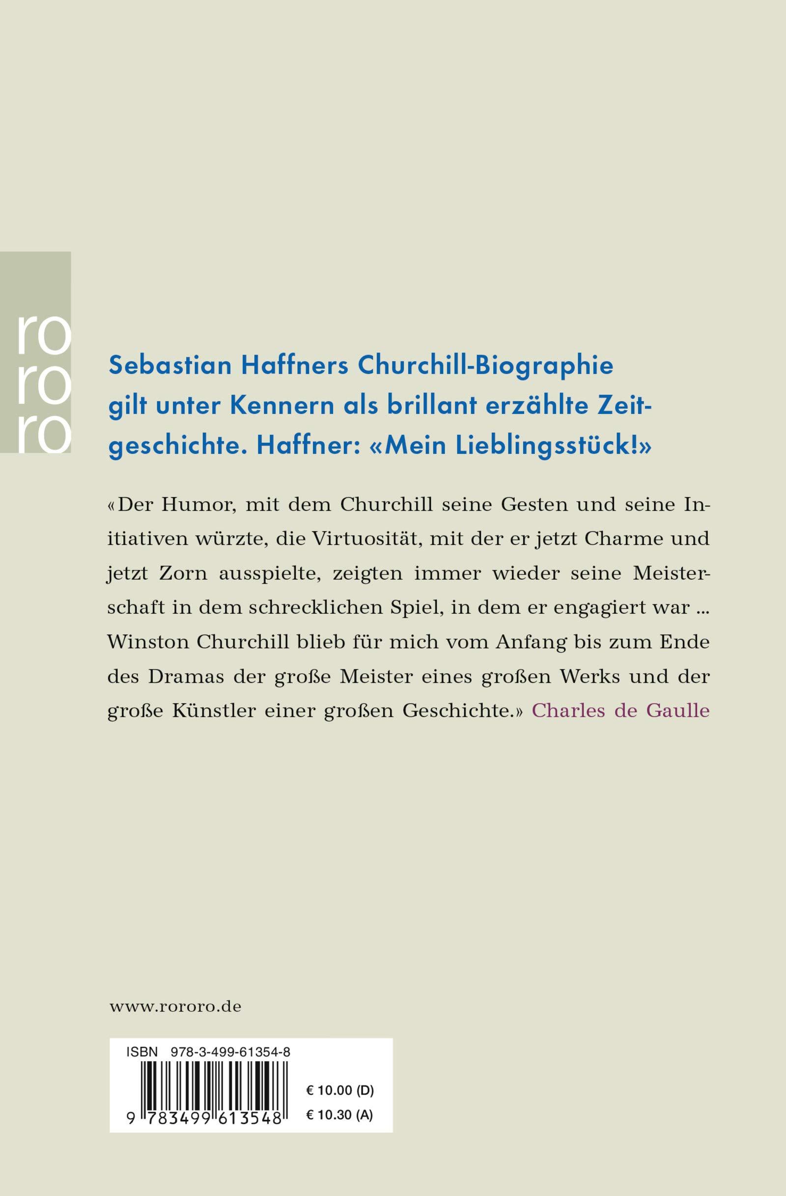 Winston Churchill Sebastian Haffner 9783499613548