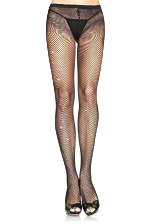 a091cc1c32c93 Leg Avenue Deluxe Black Diamante Fishnet Fashion Tights - 9008: Amazon.co.uk:  Clothing