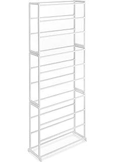 Whitmor 10 Tier 30 Pair Floor Shoe Tower White Images